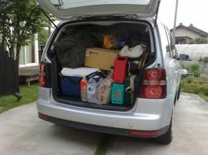 20090719荷物満載で出発!