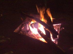 20091010焚き火