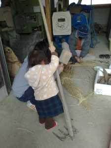 20091226しめ縄作り