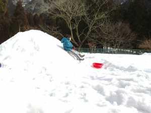 20100214滑り台完成!