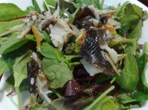 20100529虹鱒の薫製サラダ