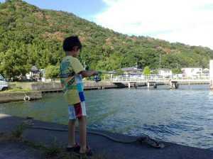 20100808長命寺港にて